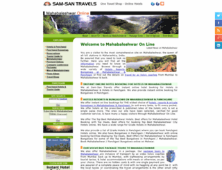 mahabaleshwarhotels.com screenshot