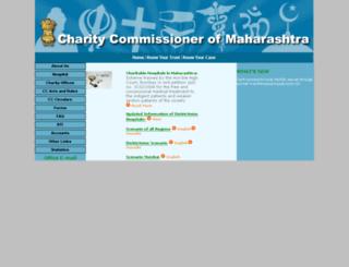 mahacharity.gov.in screenshot