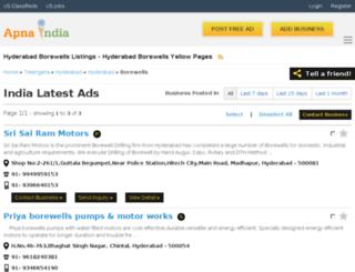 mahalaxmibores-hyderabad.apnaindia.com screenshot