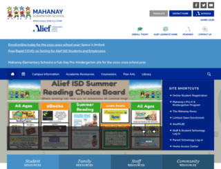 mahanay.aliefisd.net screenshot