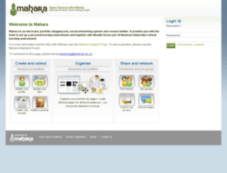 mahara.newman.ac.uk screenshot