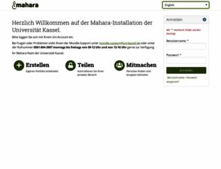 mahara.uni-kassel.de screenshot