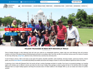 maharajatrails.com screenshot