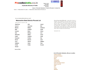 maharashtra.pincodesindia.co.in screenshot