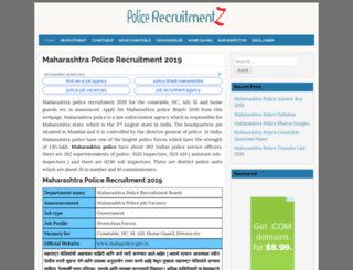 maharashtra.policerecruitments.in screenshot