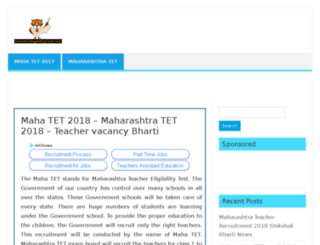 maharashtra.teachereligibilitytest.com screenshot