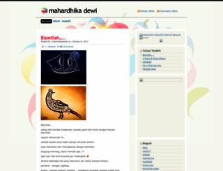 mahardhikadewi.wordpress.com screenshot
