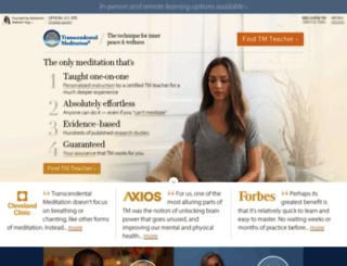 maharishi.org screenshot