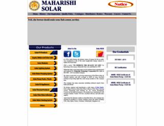 maharishisolar.com screenshot