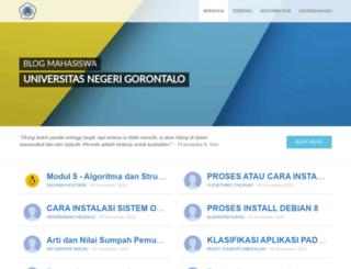 mahasiswa.ung.ac.id screenshot