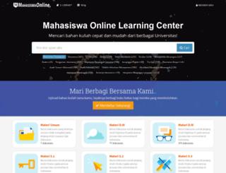 mahasiswaonline.com screenshot