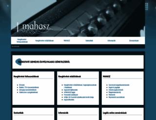 mahasz.hu screenshot