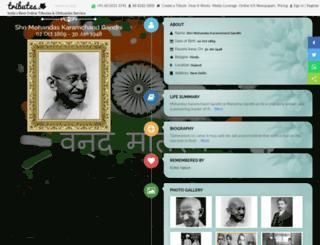 mahatma-gandhi.tributes.in screenshot
