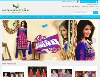 mahautsavsarees.com screenshot