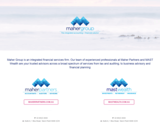 mahergroup.com.au screenshot