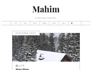 mahimmishra.com screenshot