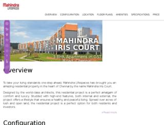mahindrairiscourt.upcomingestate.com screenshot