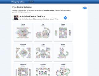 mahjongbliss.com screenshot
