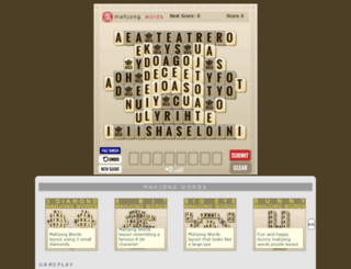 mahjongwords.com screenshot
