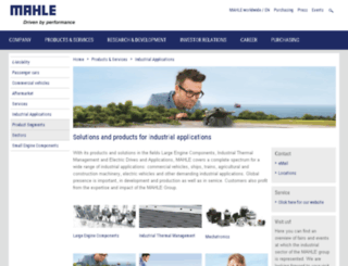 mahle-industrialfiltration.com screenshot
