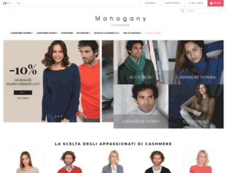 mahogany-cashmere.it screenshot