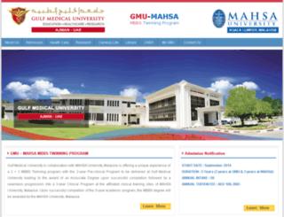 mahsa.gmu.ac.ae screenshot