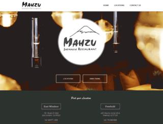 mahzurestaurants.com screenshot