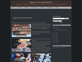 maiaspaintings.blogspot.com screenshot