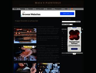 maiaspaintings.blogspot.com screenshot