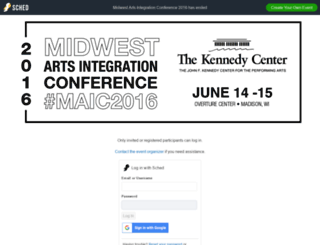 maic2016.sched.org screenshot