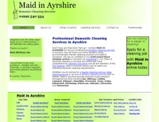maidinayrshire.webplus.net screenshot