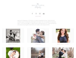 maijakarinphotography.shootproof.com screenshot