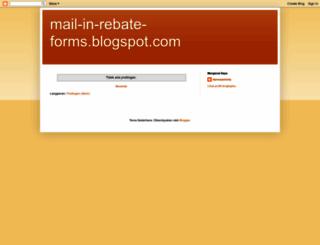 mail-in-rebate-forms.blogspot.com screenshot