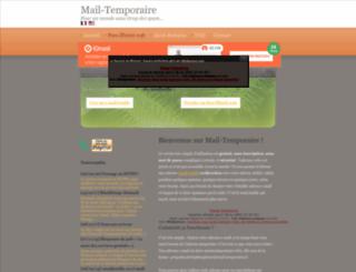 mail-temporaire.fr screenshot