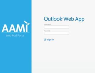 mail.aami.org screenshot