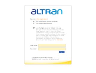 mail.altran.com screenshot
