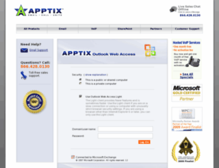 mail.apptix.net screenshot