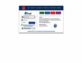 mail.bacgiang.gov.vn screenshot