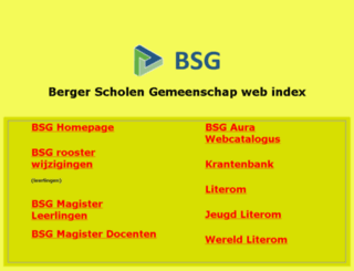 mail.berger-sg.nl screenshot