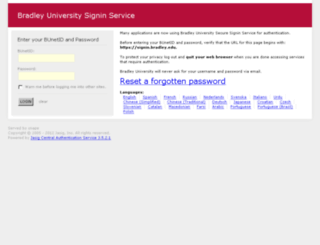 mail.bradley.edu screenshot