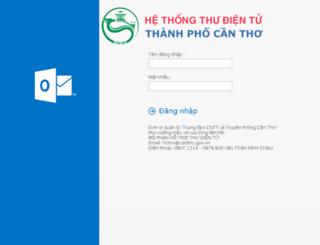 mail.cantho.gov.vn screenshot