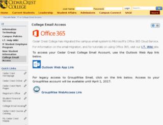 mail.cedarcrest.edu screenshot