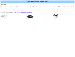 mail.cedarville.edu screenshot
