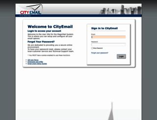 mail.cityemail.com screenshot