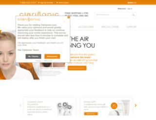 mail.clarisonic.com screenshot