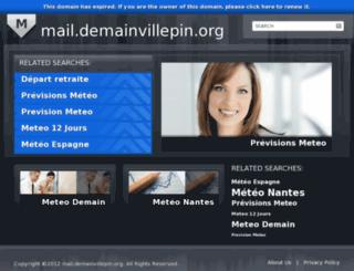 mail.demainvillepin.org screenshot
