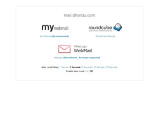 mail.dhondu.com screenshot