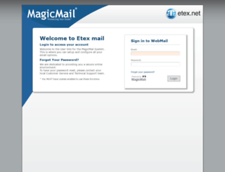 mail.etex.net screenshot