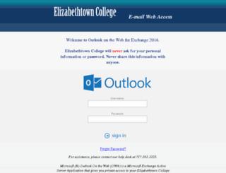 mail.etown.edu screenshot