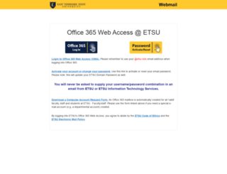 mail.etsu.edu screenshot